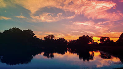 Yellow And Pink Sunset Photograph - Magical Sunset by Art Spectrum