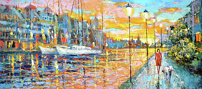 Painting - Magical Sunset by Dmitry Spiros