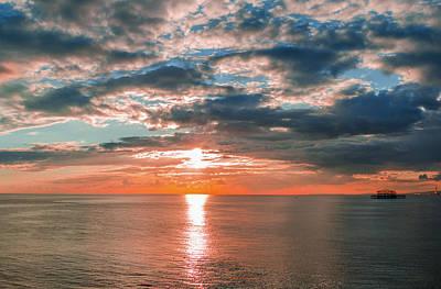 Magical Sunset In Brighton, Uk. Art Print by Marius Comanescu