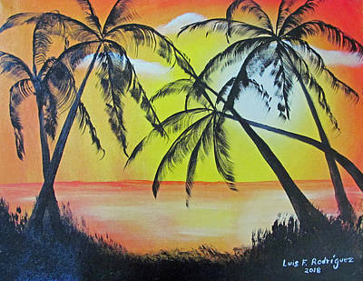 Painting - Magical Sunset by Luis F Rodriguez