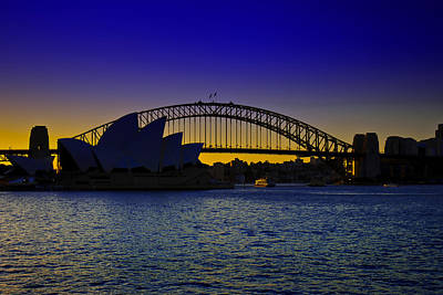 Photograph - Magical Sunset On Sydney Harbour by Miroslava Jurcik