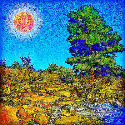 Art Print featuring the digital art Sparkling Mountain Sunshine - Boulder County Colorado by Joel Bruce Wallach
