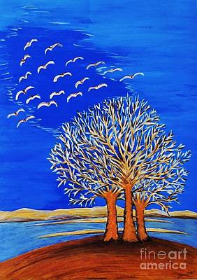 Painting - Magical Trees  by Jasna Gopic