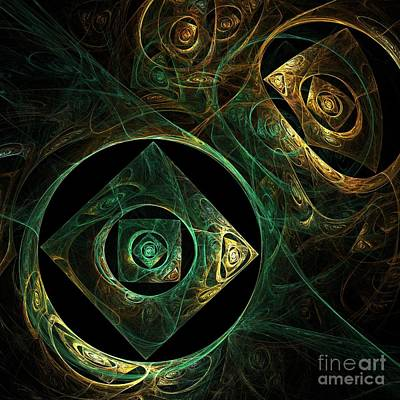 Abstract Art Digital Art - Magical Vibrations by Oni H