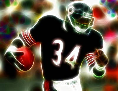 Football Royalty-Free and Rights-Managed Images - Magical Walter Payton by Paul Van Scott