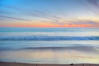 Tarifa Photograph - Magical Waves Tarifa Beach At Sunset by Guido Montanes Castillo