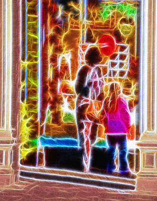 Storefront Mixed Media - Magical Window - Christmas Window Display 3  by Steve Ohlsen