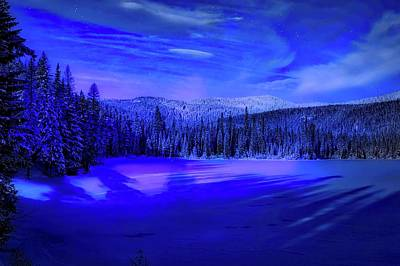 Photograph - Magical Winter Evening by Lynn Hopwood