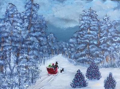 Magical Winter Sleigh Ride Original by Terry Tuley
