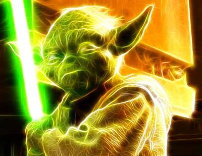 Magical Yoda Art Print by Paul Van Scott