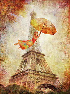 Digital Art - Magically Paris by Christina Lihani