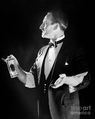 Story-1920s Photograph - Magician With Sleeves Rolled Up, C.1920s by H. Armstrong Roberts/ClassicStock