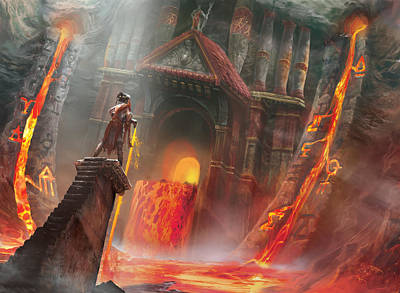 Temple Digital Art - Magmatic Insight by Ryan Barger
