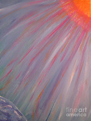 Sun Rays Painting - Magnetic Connection Painting by Adri Turner