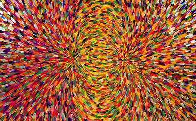 Painting - Magnetic Lines 2 by Patrick OLeary