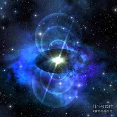 Magnetic Pulse Star Art Print