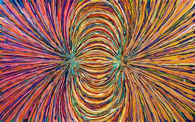 Painting - Magnetic Strings by Patrick OLeary
