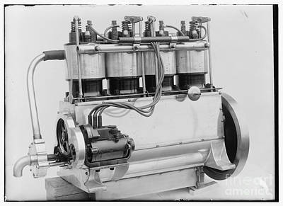 Photograph - Magneto Side Of The Wright Four Cylinder Motor Used In 1911 by R Muirhead Art