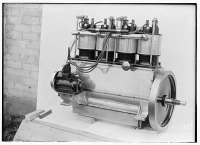 Photograph - Magneto Side Of The Wright Four Cylinder Motor Used In 1911 View 2 by R Muirhead Art