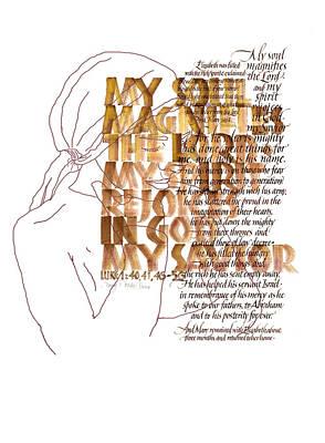 Magnificat Art Print by Judy Dodds