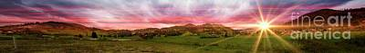Magnificent Andes Valley Panorama II Art Print