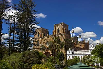Immaculate Photograph - Magnificent Center Of Cuenca Ecuador II by Al Bourassa