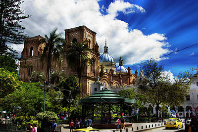 Print featuring the photograph Magnificent Center Of Cuenca, Ecuador IIi by Al Bourassa