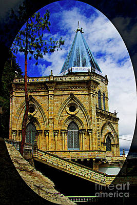 Print featuring the photograph Magnificent Church Of Biblian by Al Bourassa