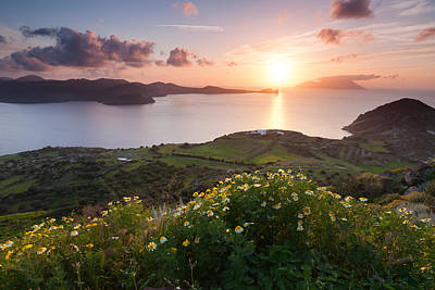 Plaka Photograph - Magnificent Greek Sunset by Evgeni Dinev