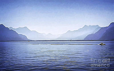 Suisse Painting - Magnificent Lake by GabeZ Art
