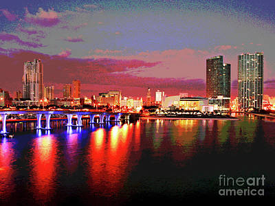 Magnificent Miami Sunrise Art Print by Larry Oskin