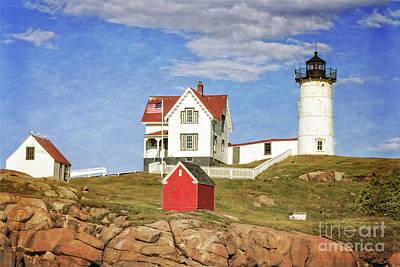 Photograph - Magnificent Nubble Lighthouse by Elizabeth Dow