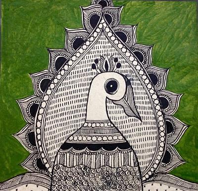 Painting - Magnificent Peacock by Vidushini  Prasad