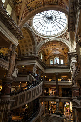 Photograph - Magnificent Shopping Destination - The Forum Shops At Caesars Palace Hotel And Casino In Las Vegas by Georgia Mizuleva