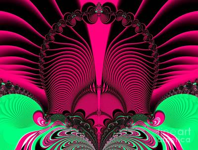 Magnificent Sunrise Reflections Fractal 119 Art Print by Rose Santuci-Sofranko
