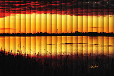 Magnificent Sunrise Swim Art Print by Bill Kesler
