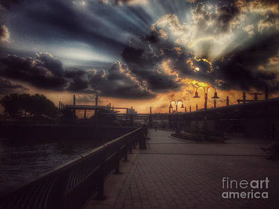 Photograph - Magnificent Sunset - On The Boardwalk by Miriam Danar