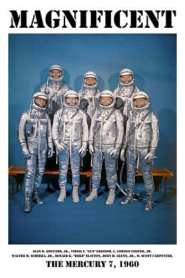 Photograph - Magnificent - The Mercury Seven by Richard Reeve