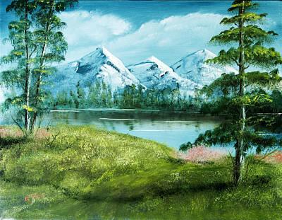 Magnificent Vista - Mountain Landscape Art Print by Barry Jones
