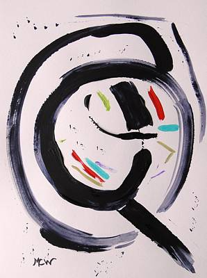 Bold Abstact Painting - Magnifying by Mary Carol Williams