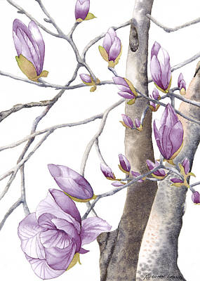 Painting - Magnolia Primo by Autumn Leaves