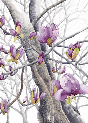 Painting - Magnolia Thrice by Autumn Leaves