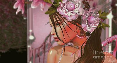 Digital Art - Magnolia 3 by Georgina Hannay