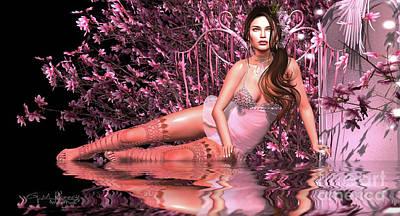 Digital Art - Magnolia 4 by Georgina Hannay