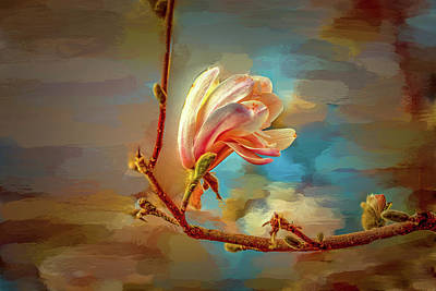 Art Print featuring the digital art Magnolia Abs #h4 by Leif Sohlman