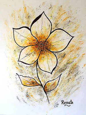 Painting - Magnolia Art-flower by Renate Dartois