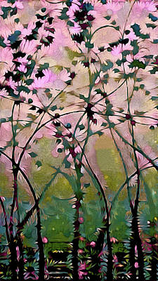 Magnolia Art Nouveau Art Print by Susan Maxwell Schmidt