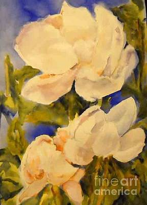 Painting - Magnolia Blooms by Linda Rupard