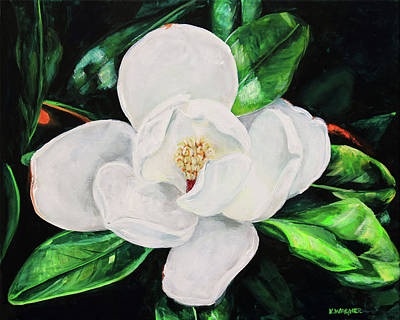 Painting - Magnolia Blossom by Karl Wagner