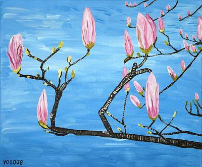 Painting - Magnolia Blossom by Valerie Ornstein